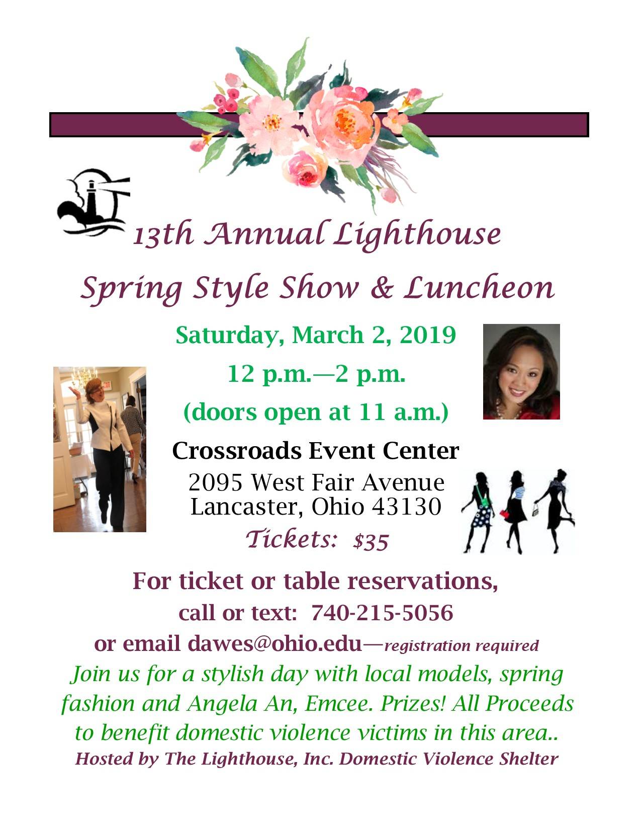 The Lighthouse Domestic Violence Shelter 13th annual Spring Style Show and  Luncheon - WOUB Public Media