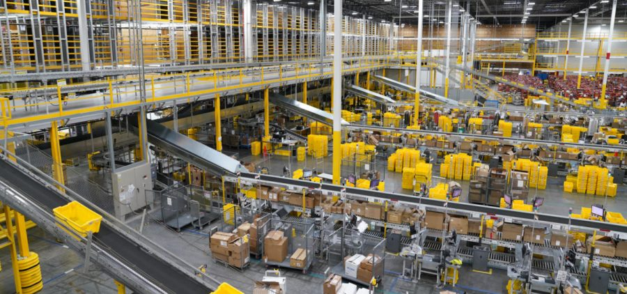This Amazon center is roughly the size of 28 football fields.