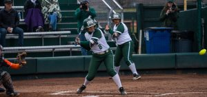 Ohio Softball Katie Yun prepares for upcoming pitch