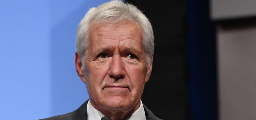 Jeopardy! host Alex Trebek speaks as he is inducted into the National Association of Broadcasters' Broadcasting Hall of Fame in Las Vegas in April 2018. On Wednesday, he revealed that he was diagnosed with pancreatic cancer.
