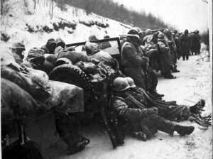 Marines of the 5th and 7th Regiments, in the field