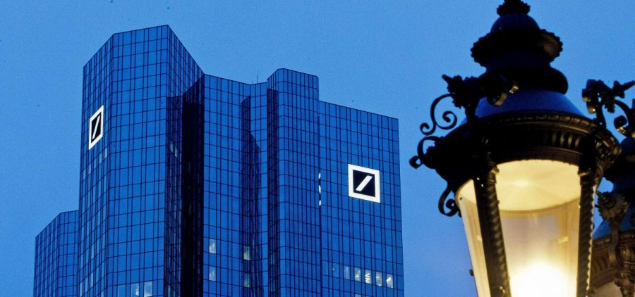 The Deutsche Bank headquarters in Frankfurt, Germany. President Trump is suing Deutsche Bank and Capital One, seeking to block the banks from responding to subpoenas from two House panels seeking personal financial documents related to the president, his family and his company.