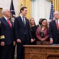 President Trump at the signing ceremony for the First Step Act in December. While some prisoners are benefiting from reduced sentences, implementation of other aspects of the law has been hit with delays.