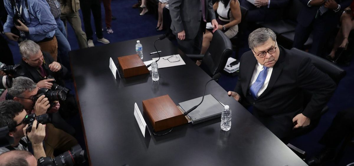 Attorney General William Barr arrives to testify about the Justice Department's FY 2020 budget request before a subcommittee of the House Appropriations Committee on Capitol Hill Tuesday in Washington, D.C.