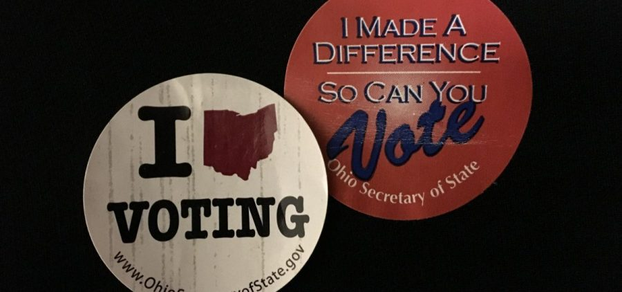 Old voting stickers
