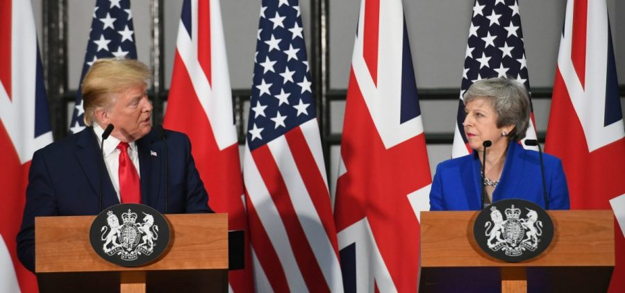 """I think Mexico will step up and do what they should have done,"" President Trump said at a press conference with British Prime Minister Theresa May after a meeting with her at 10 Downing Street."