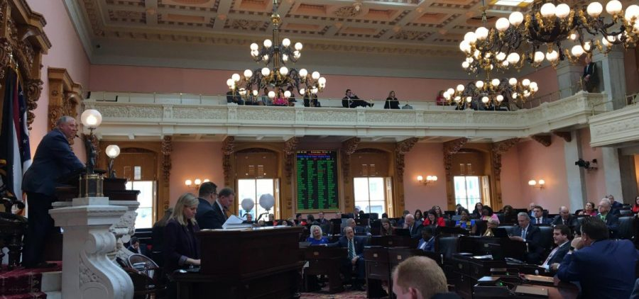 The Ohio House in voting session
