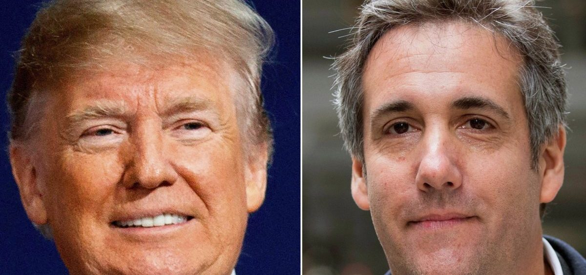 Donald Trump, left, directed then-lawyer Michael Cohen, center, to help arrange payments to Stormy Daniels, right, and another woman, to silence them about alleged sexual relationships with Trump.