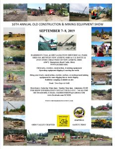 A flier for the 16th Annual Old Construction & Mining Equipment Show September