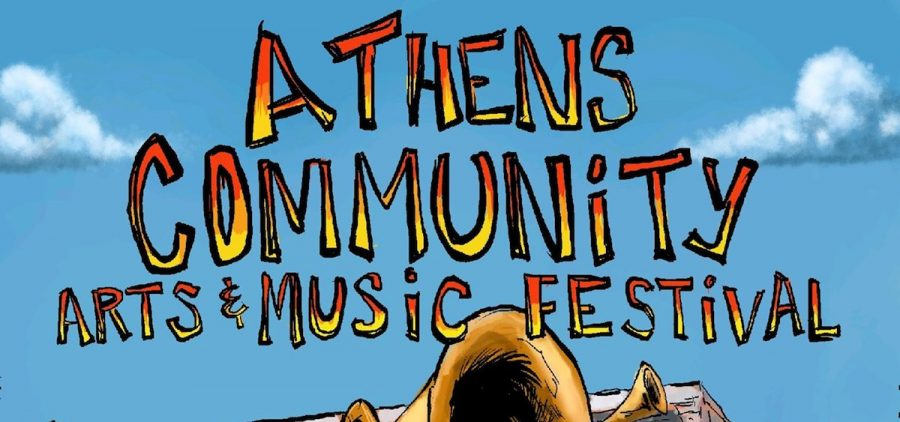 2019 Athens community Arts & Music festival poster