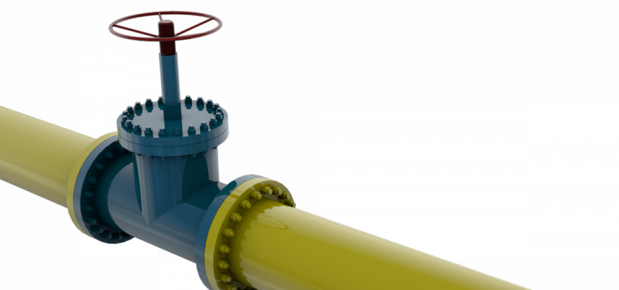 A gas pipe