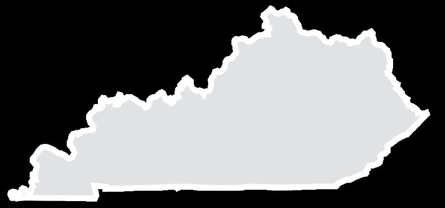 An outline of Kentucky