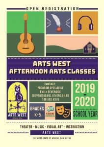 Afternoon Arts Classes Poster