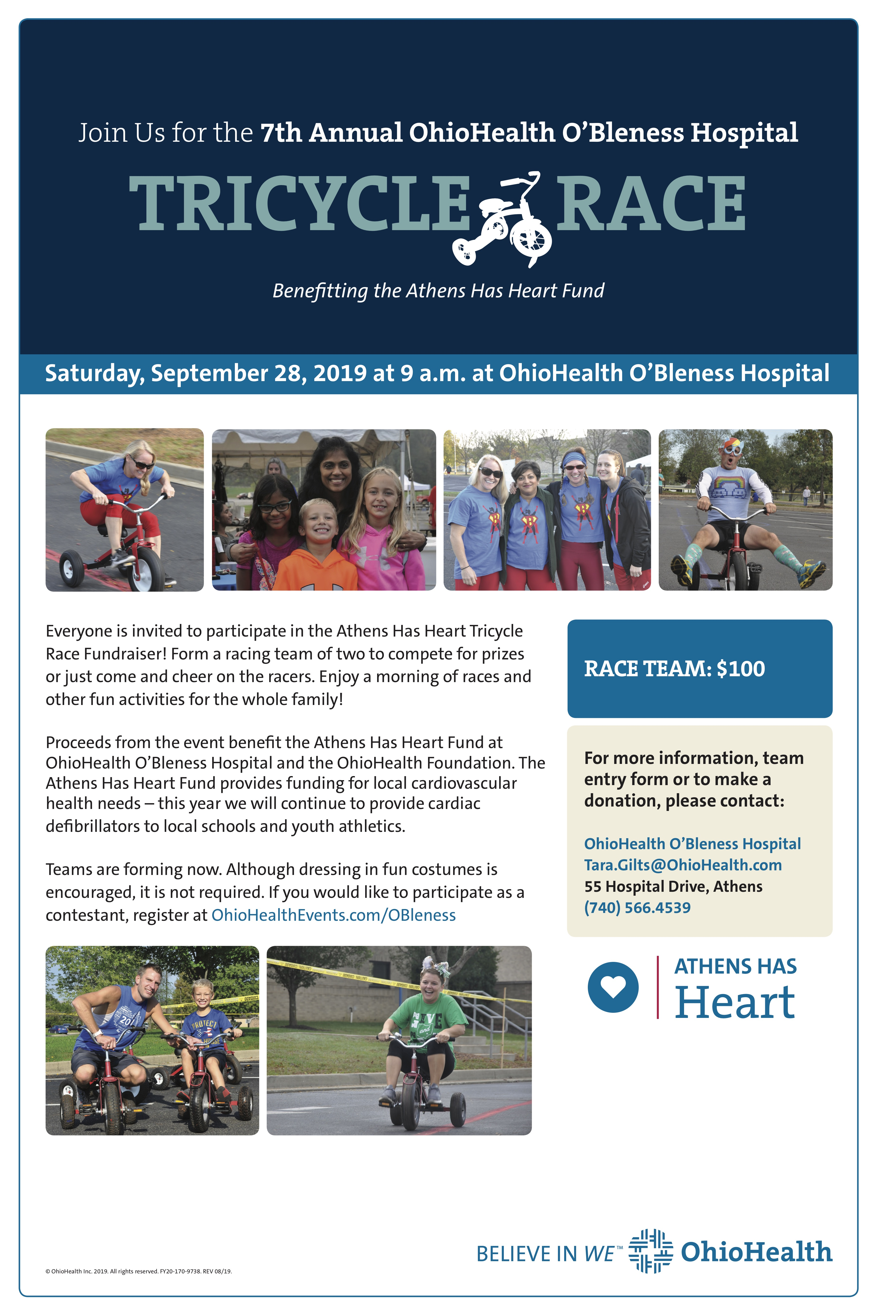 Athens Has Heart Tricycle Race Flyer 2019