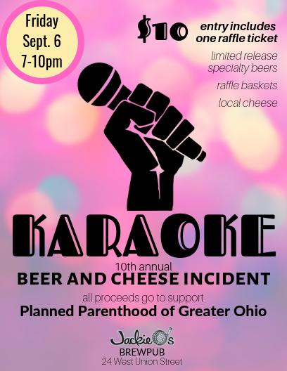 Karaoke Beer and Cheese Incident flier