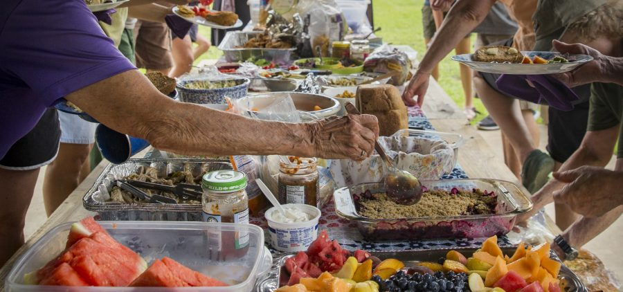 Photographs of the Annual Potluck Meeting