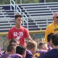 Logan Drummer coaches Southern's football team.