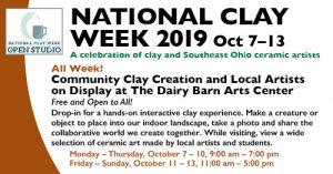 National Clay Week flier