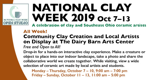National Clay Week flier