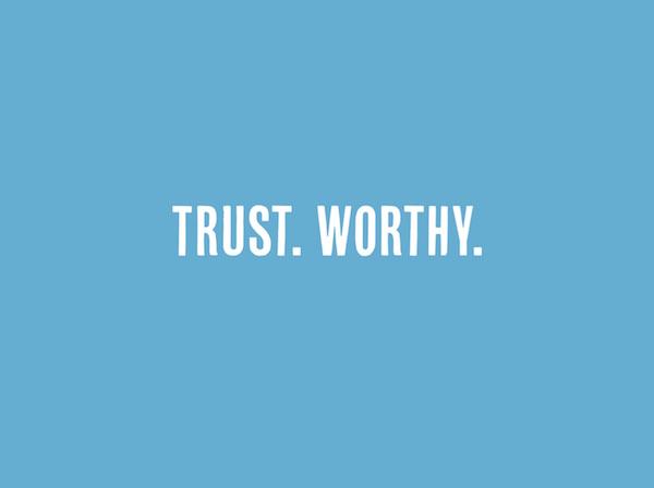 WOUB tagline = Trust. Worthy.
