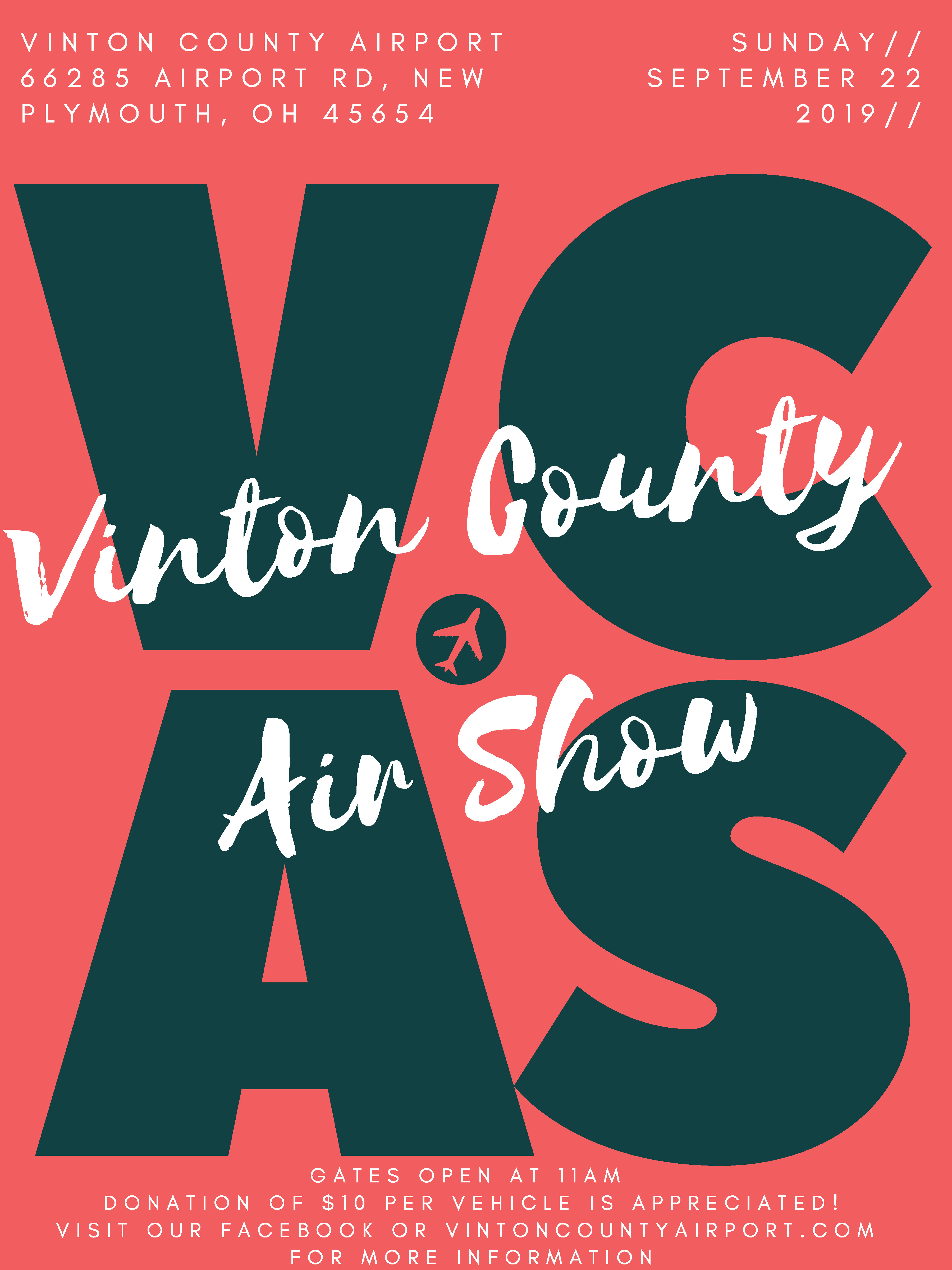 A flier for the Vinton County Airshow 2019