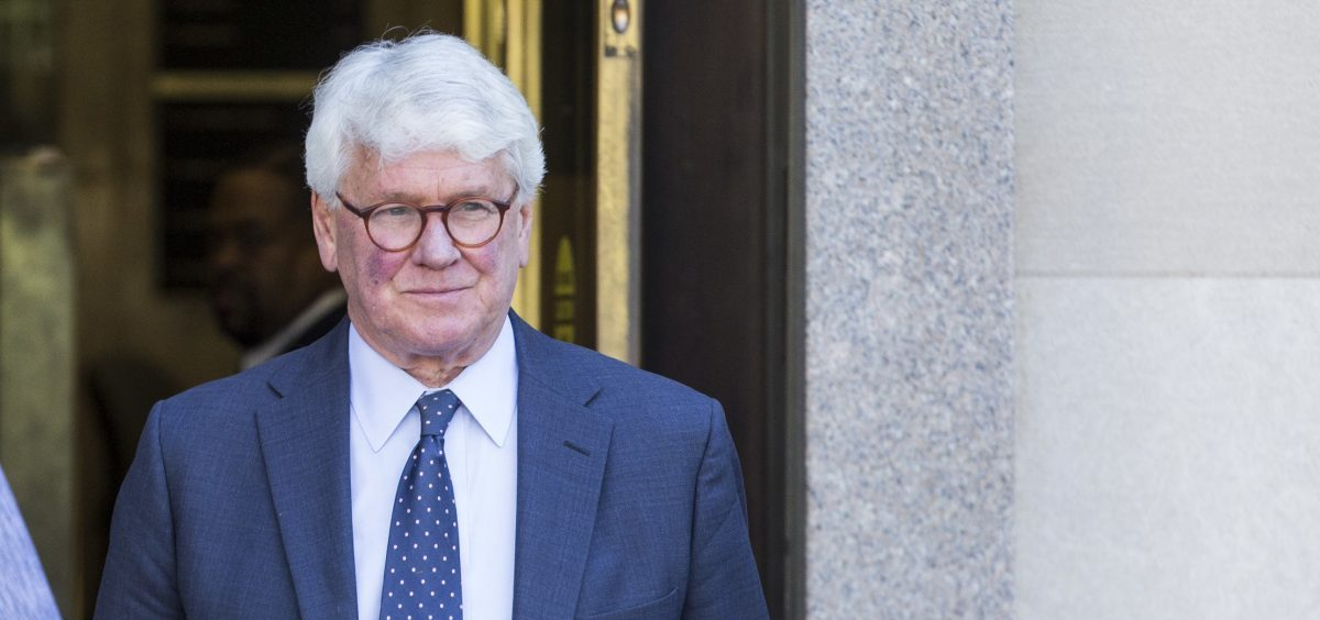 Greg Craig, who was White House counsel under President Barack Obama, departs from the U.S. District Courthouse after a hearing on April 15. His trial begins Monday.