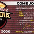 Gridiron Glory 4th annual Media day flyer