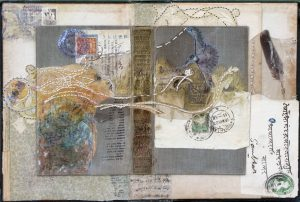 Mixed media work by Sharmon Davidson