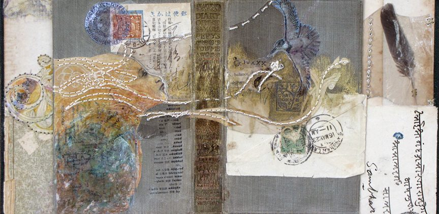 Mixed media work by Sharmon Davidson