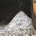 A pile of plastic bags grows hourly at Omni Recycling, a materials recovery facility in Pitman, N.J. The bags can get caught in the conveyor belts and equipment and gum up the recycling process.
