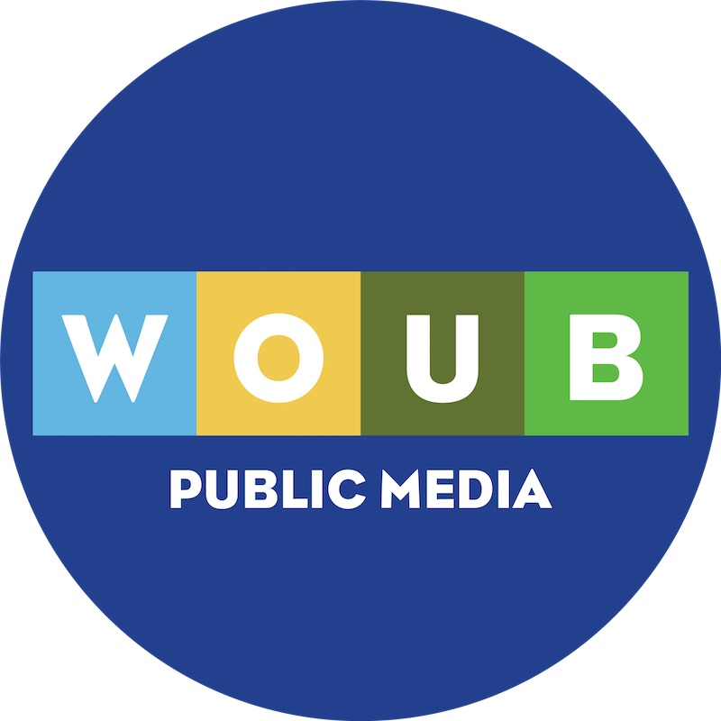 New WOUB logo circle format, August 2019