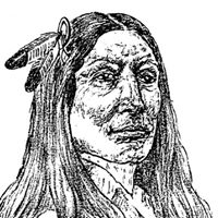 An illustration of Crazy Horse
