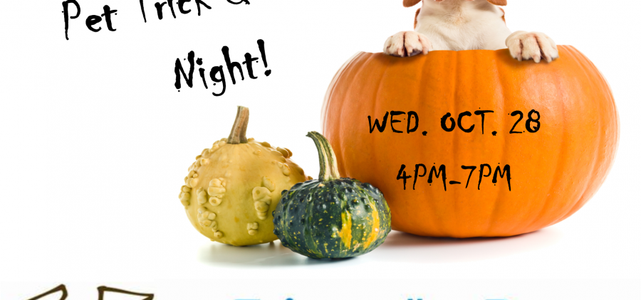 Pet Trick and Treat Night flier