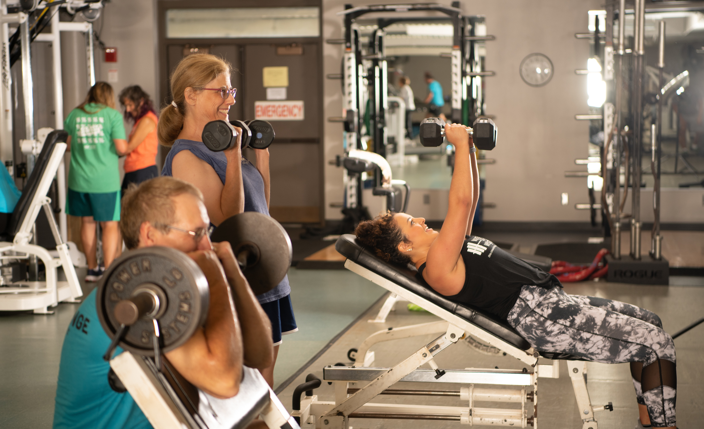 Publicity shot from inside WellWorks gym