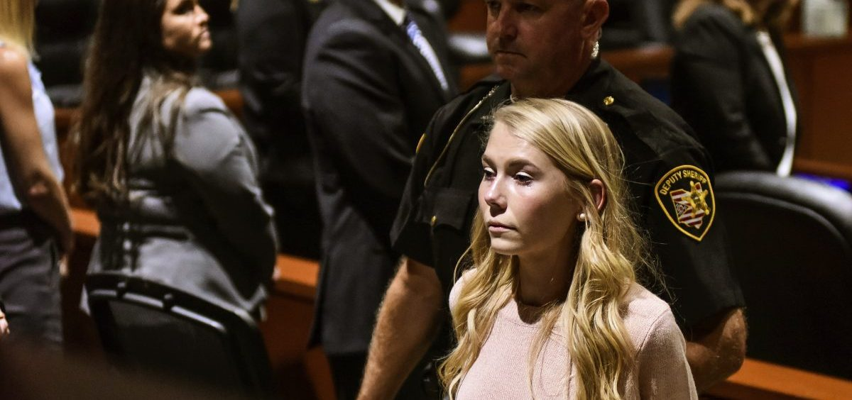 """Brooke """"Skylar"""" Richardson is escorted out of the courtroom after the verdict"""