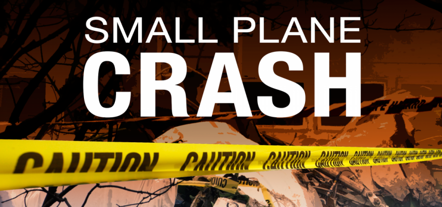 A graphic for a small plane crash