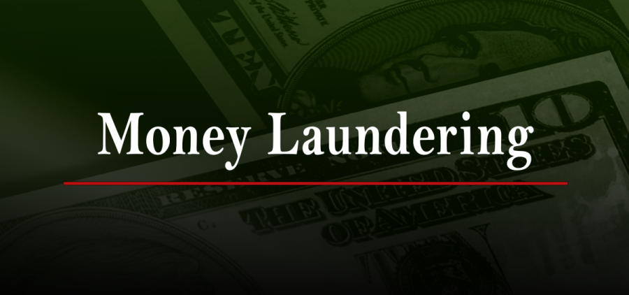 A graphic for money laundering