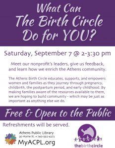 Birth Circle flier