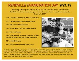 Rendville Emancipation Day flier