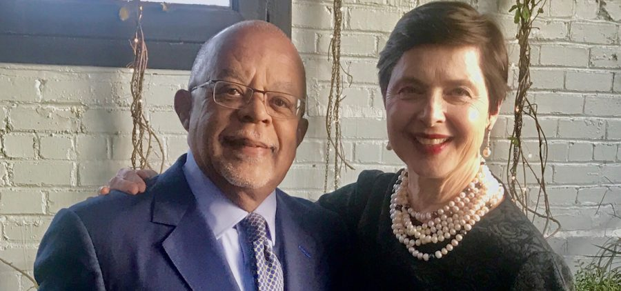 Henry Louis Gates, Jr. with actress Isabella Rossellini