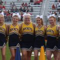 Wellston cheerleaders pose for picture before the last Wellston-Jackson rivalry game.