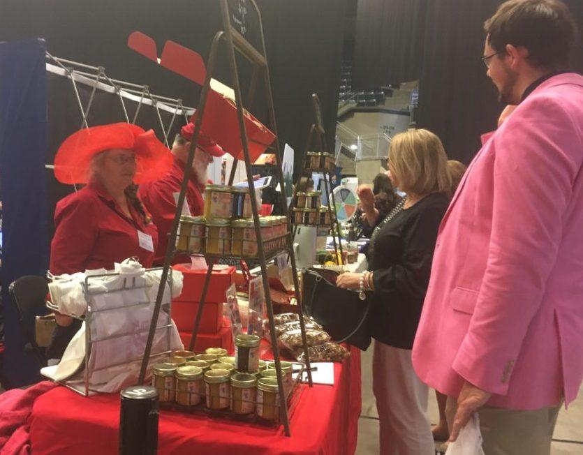 Joyce Pinson of Friends Drift Inn Kitchen displays jams and jellies.