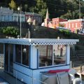 Overlooking Pomeroy's downtown riverfront and Main Street from atop a sternwheel, the William D.