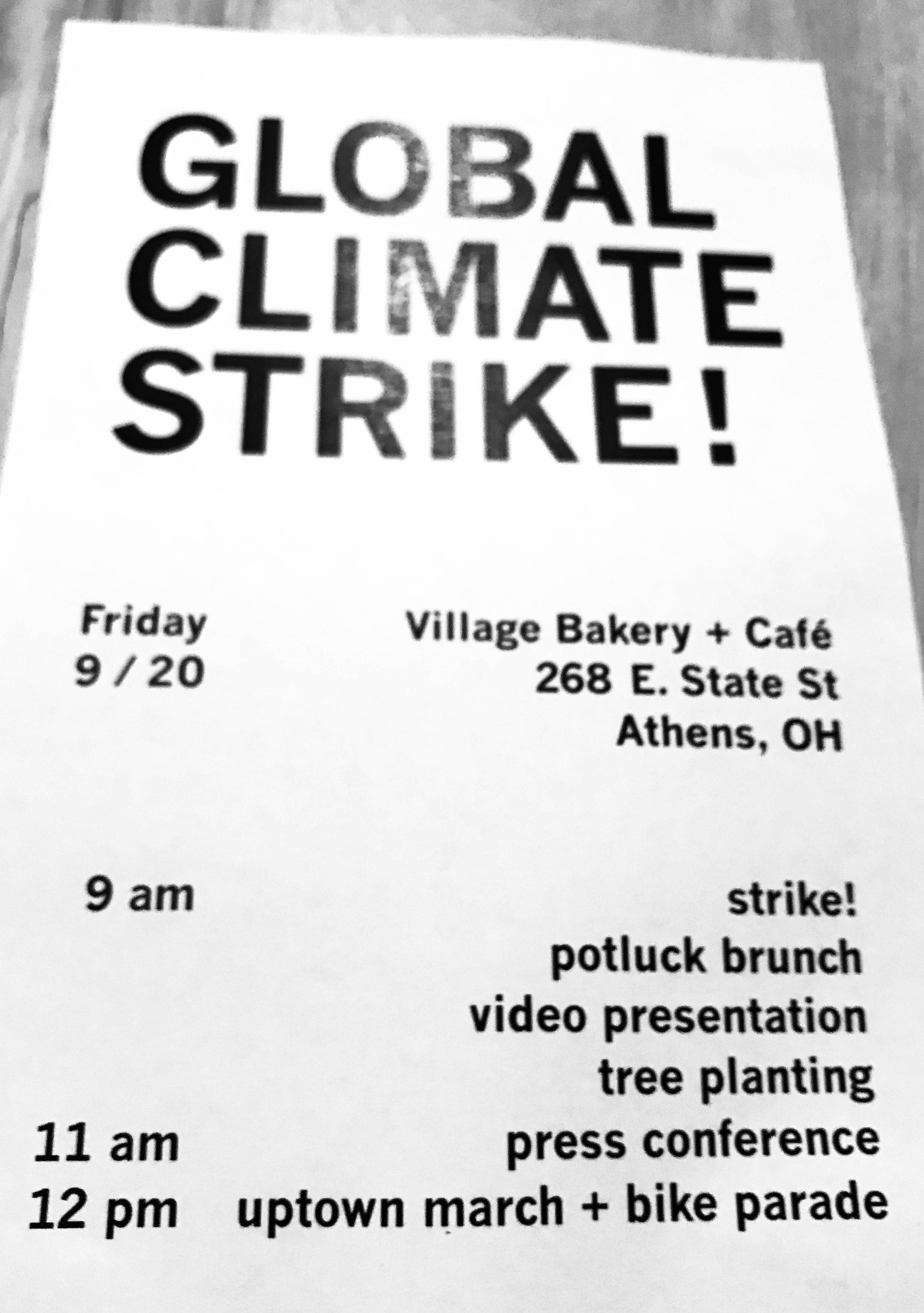 Global Climate Strike flier