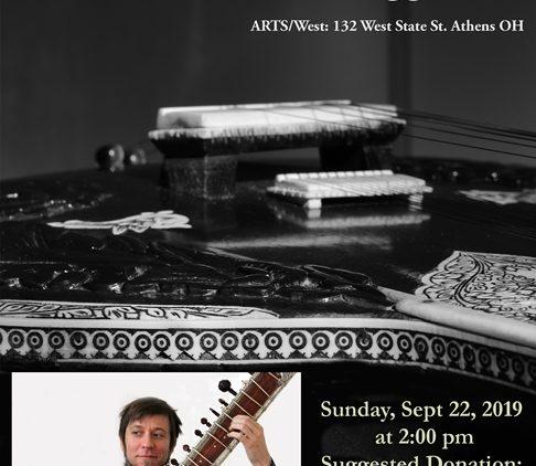 Flier for J.J. Gregg's sitar concert