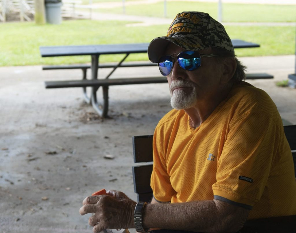 Former miner Larry Bush lives near two large coal mines in Virginia.