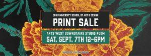 OU Print Sale flier