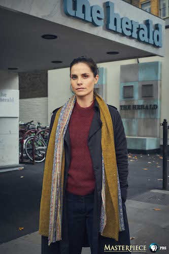 Charlotte Riley repoirter for The Press on Masterpiece