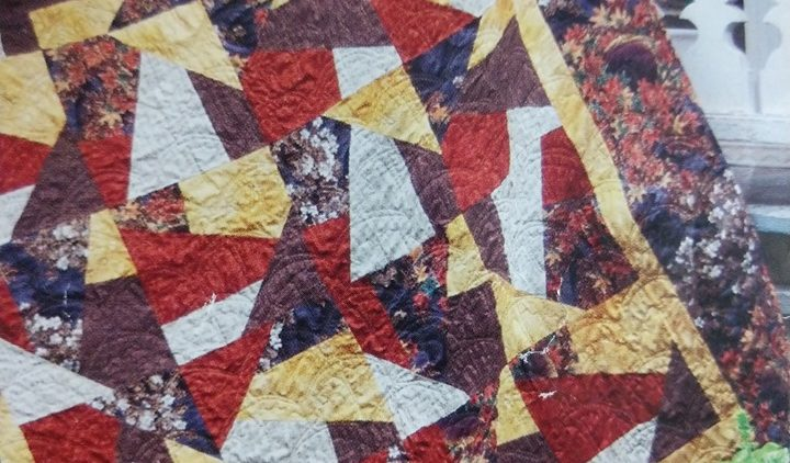 A quilt put on display