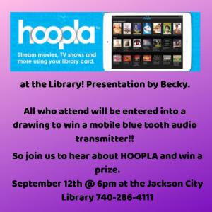 hoopla presentation flier